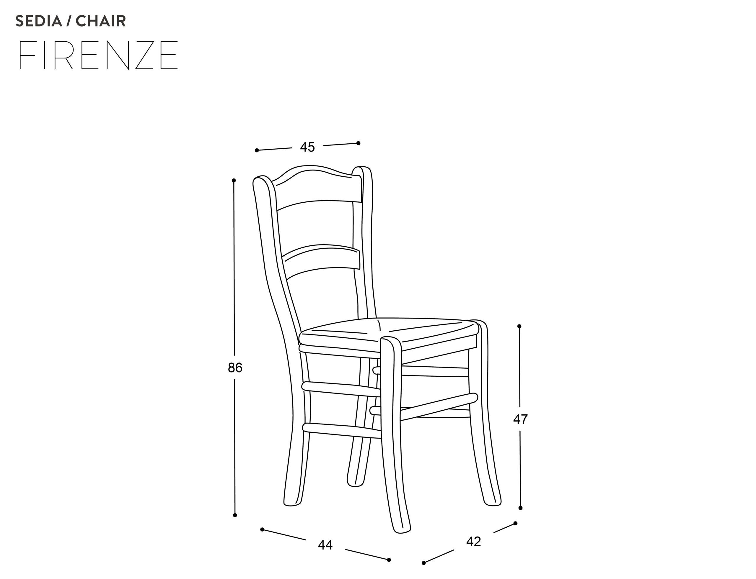 Coppia di sedie Firenze